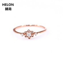 Natural Diamonds Engagement Ring for Women Solid 14k Rose Gold Wedding Ring Fine Jewelry Fine Jewelry