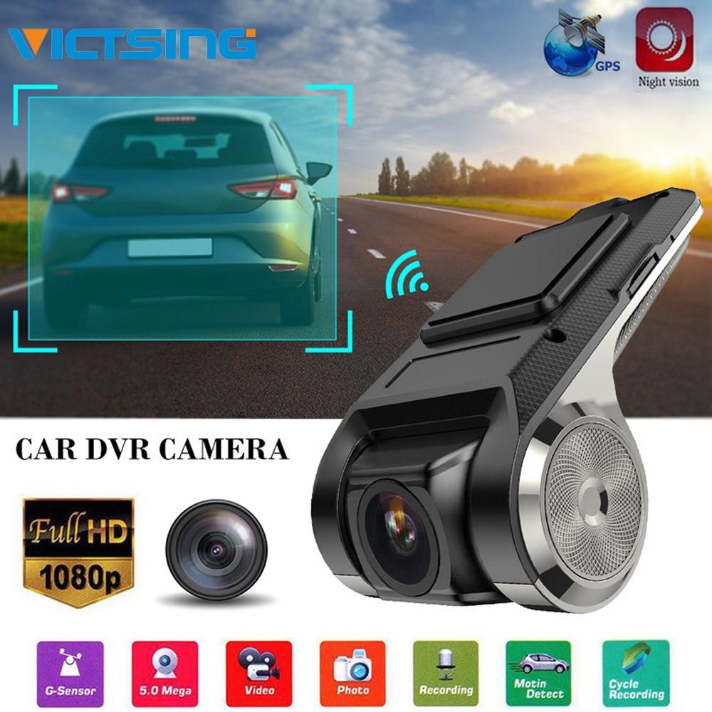 VicTsing 1080P Car DVR Camera Video Recorder WiFi ADAS G-sensor Recorder Android Auto Digital Video Recorder Dash Cam Full HD