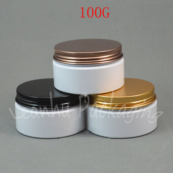 100G White Plastic Wide-Mouth Bottle , 100CC Mask / Cream Packaging Jar , Empty Cosmetic Container ( 30 PC/Lot )