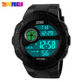 Skmei Brand Young Men Sports Watch Fashion Casual Silicone Wristwatches Digital LED Military 50M Waterproof Watches New 2016