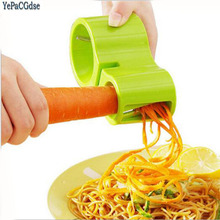 Double helical hourglass cutting kitchen multifunctional creative manual household rotary Fruits tool Veggie Chopper