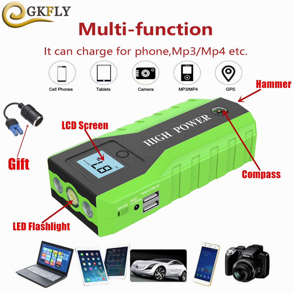 High Power Car Jump Starter Multifunction Charger font b Battery b font Emergency Portable Power Bank