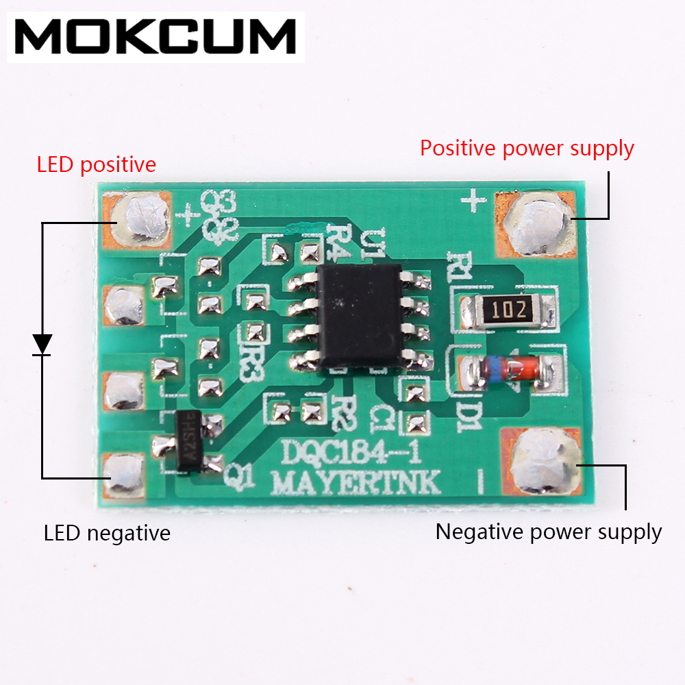 Light Slow Flash Module Gradually Fades Out Gradient Light Controller Automatic Dimmer Breathing Light Driver Chip DC 3V-12V
