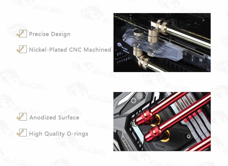 BYKSKI G1/4 ''выпуск воздушная пробка/ручной выпускной клапан воздушный выпускной клапан уплотнительный замок для система водяного охлаждения