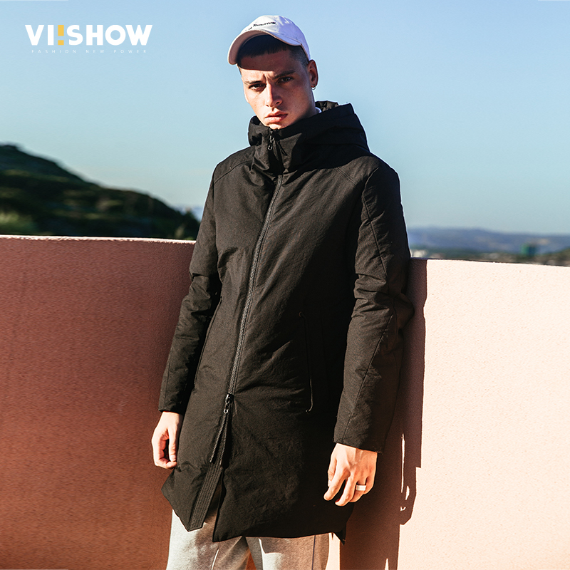 VIISHOW 2017 New Winter Jacket Men White Duck Down Jacket Hooded Parkas Mens Down Jacket Outerwear Jackets Coat Gray YC2672174