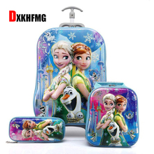 2018 New Children Backpack Kids School Bags with Wheel Trolley Luggage for Boys Girls Backpacks School Bag Children's Gift Bag baijiawei trolley children school bags kids backpacks with wheel trolley luggage for girls and boys backpack schoolbag
