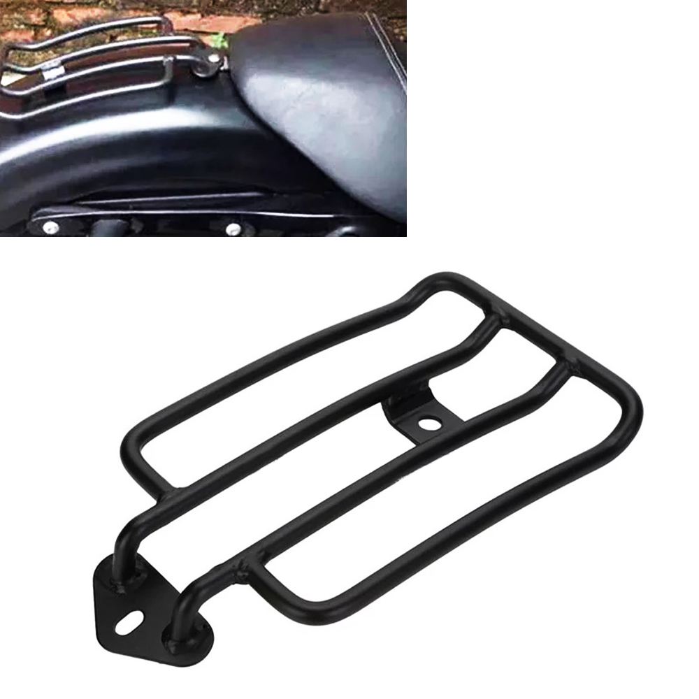 Black Rear Seat Luggage Shelf Carrier Support Rack for Harley Davidson Sportster 1200 883 2004 - 2008 2009 2010 2011 2012 teaegg top roof rack side rails luggage carrier for hyundai tucson ix35 2010 2014