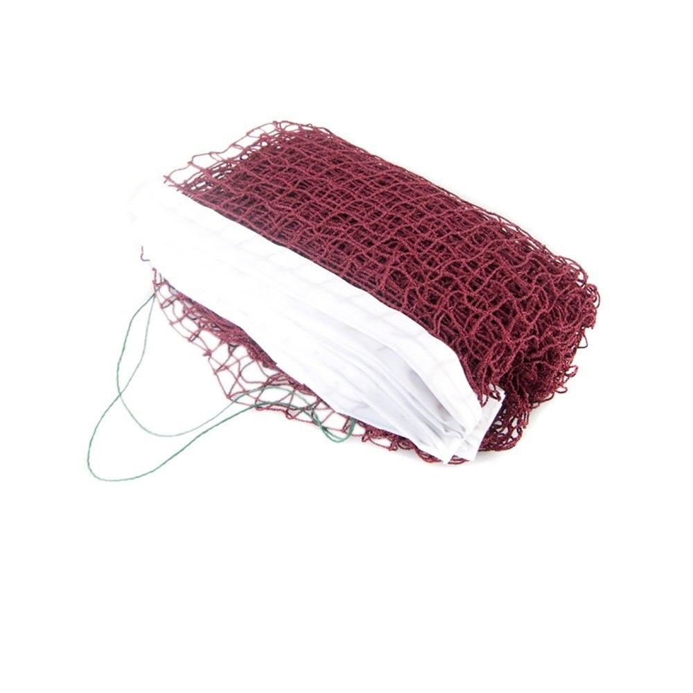 2x Стандартный профессиональной подготовки квадратной сетки плетеные Бадминтон чистая темно-красный