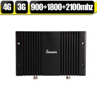 GSM 900 1800 WCDMA 2100 Triple Band Signal Booster Manual Gain Control 2G 3G 2100mhz 4G