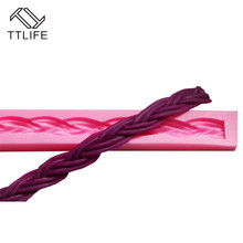 TTLIFE Twist Texture Rope Cake Border Silicone Mold Fondant Cake Pastry Decorating Tools Dessert Biscuit Chocolate Baking Moulds ttlife twist texture rope cake border silicone mold fondant cake pastry decorating tools dessert biscuit chocolate baking moulds