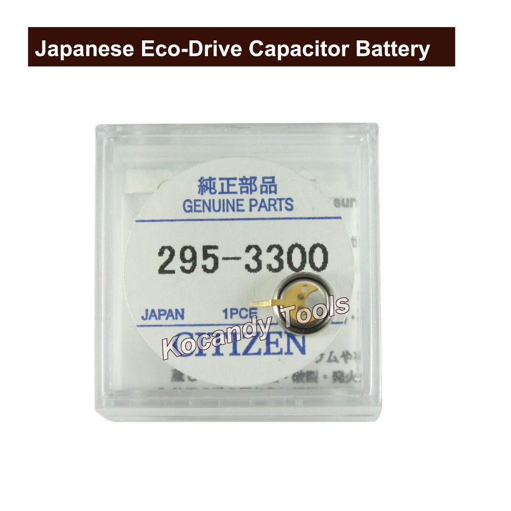 Japanese CT 295.33  Eco-Drive Capacitor Battery MT621 8511 8626 8629 Genuine Part No. 295-3300 Watch Battery Accumulator | Watch Batteries