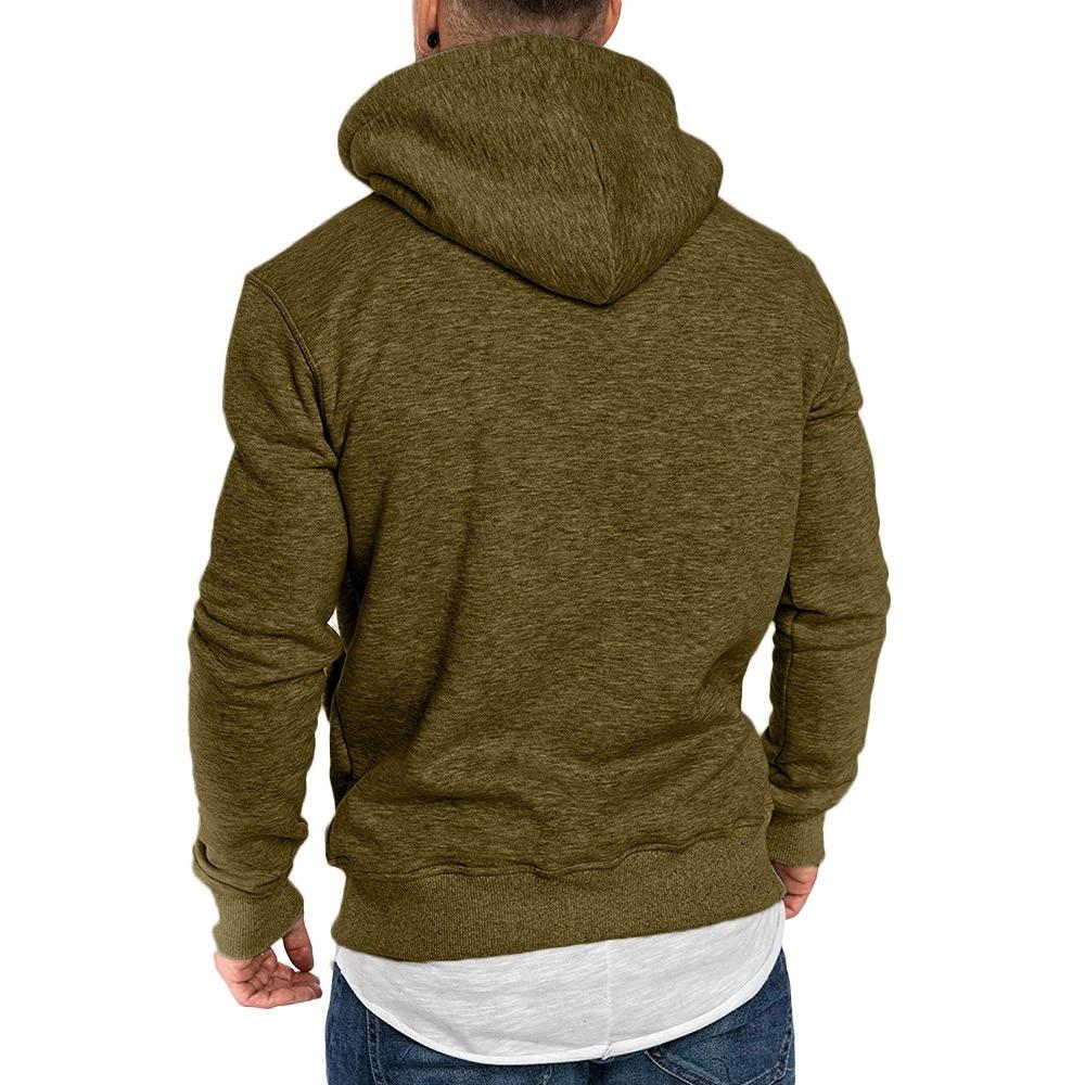 sweatshirt men 2018 NEW hoodies brand male long sleeve solid hoodie men black red big size poleron hombre #0301 25