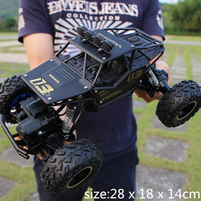 RC Car 1/12 4WD Rock Crawlers 4×4 Driving Car Double Motors Drive Bigfoot Car Remote Control Car Model Off-Road Vehicle Toy