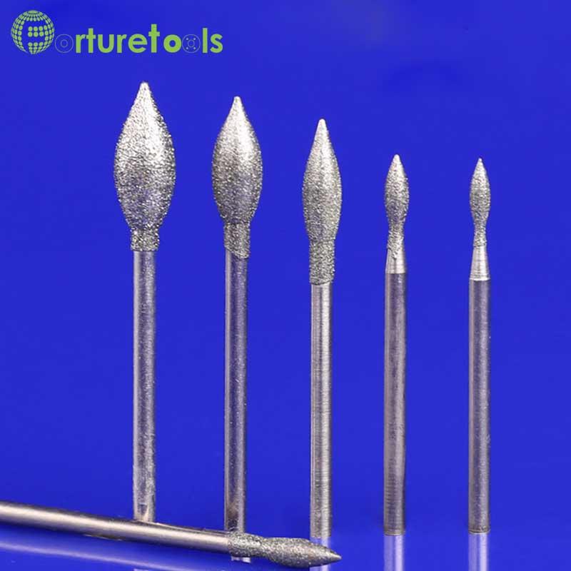 50 pz diamante montato punto smerigliatrice pietra per intaglio - Utensili abrasivi - Fotografia 1