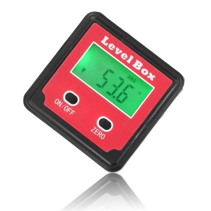 Precision Digital Protractor Inclinometer Level Box Digital Angle Finder Bevel Box with Magnet Base LCD Backlight  цены