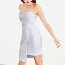INDRESSME Women Strapless Bandage Dress Fashion Slash Neck Backless Split Mini Bodycon Party Dress Vestidos 2018 New