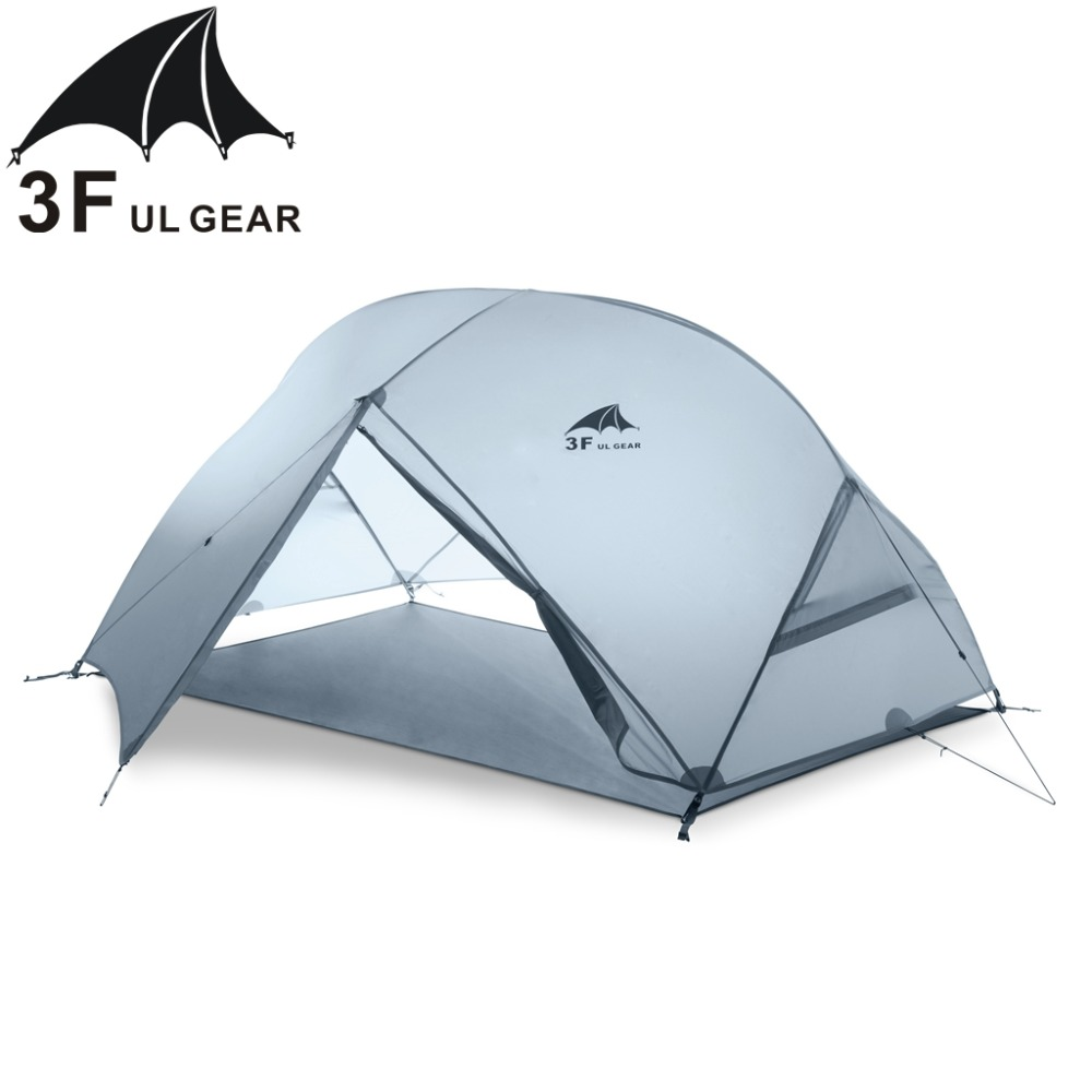 Image 2 - 3F UL GEAR 2 Person Camping Tent 4 Season 15D With Mat Outdoor  Ultralight Hiking Backpacking Waterproof Tents Waterproof CoatingTents