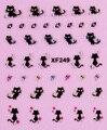 1 hoja nuevos diseños 3d Nail Art Stickers Fancy gato encantador adhesivos adornos de DIY que estampa Tips manicura herramientas de belleza XF249