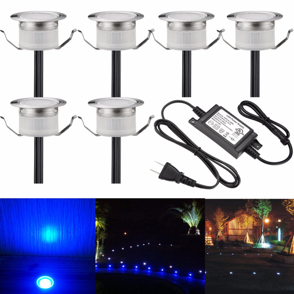 Fvtled 12v led deck lighting kit stainless steel waterproof outdoor fvtled 12v led deck lighting kit stainless steel waterproof outdoor landscape garden yard step lamp in ground lightspack of 6 in led underground lamps from mozeypictures Gallery