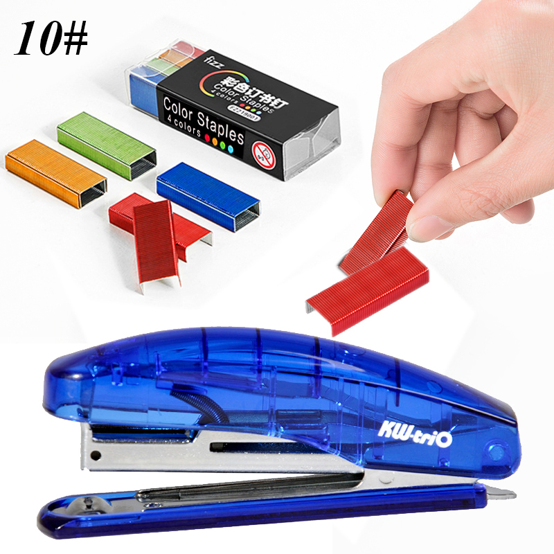 Manual Transparent Stapler Kawaii Staplers Set With 10# Staples Stationery School Office Material Supplies