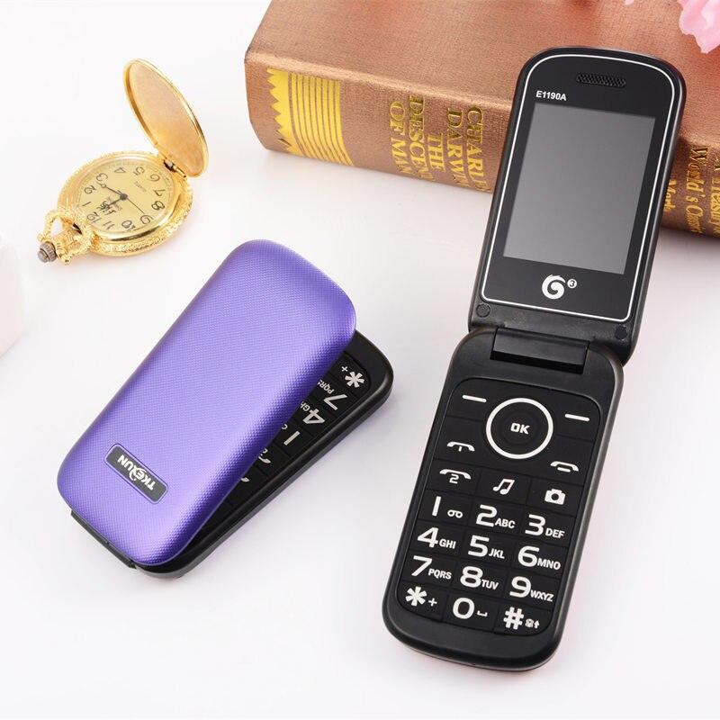 Original Flip Spainish Cheap Senior Magic Voice E1190A Mobile Phone Gsm Push-button Cell Phones Russian Phone