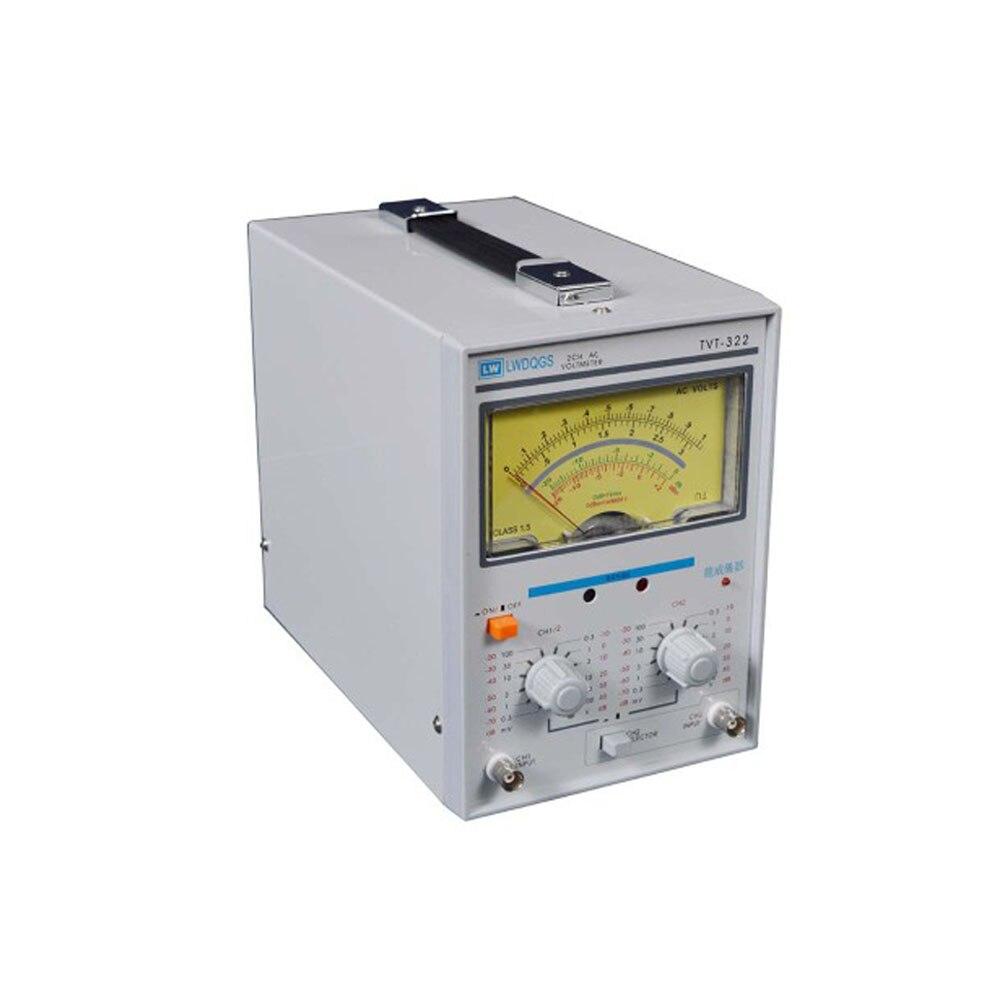 TVT 322 Dual Channel Milivoltmeter Double Needle Millivoltmeter New Design High Quality Pointer Voltage Measuring Instruments