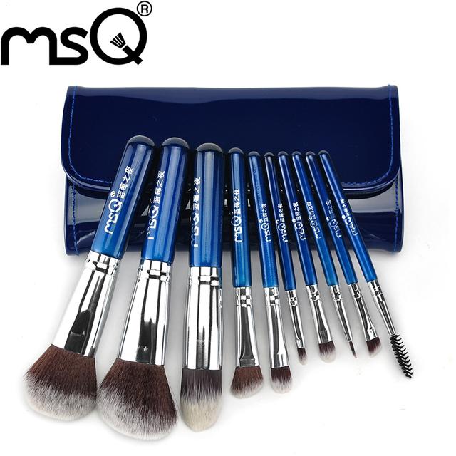 MSQ Profissional Promoção de Alta Qualidade 10 pcs Pincéis de Maquiagem Definir Cabelo Sintético Para O Varejo de Moda Beleza