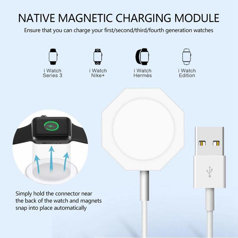 Charging-Cable-Cord Watch-Charger Wireless Portable Fast Apple For 1/2/3/4 Magnetic