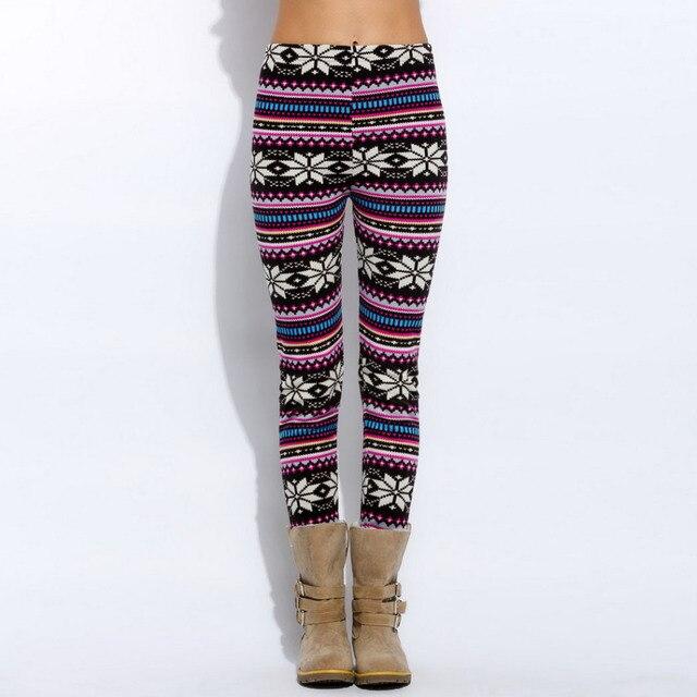 New Women Casual Winter Pants Thick Bottoms Warm Leggings Lady Print Pants Women Fleece Pants & Capris Velvet Trousers for Woman