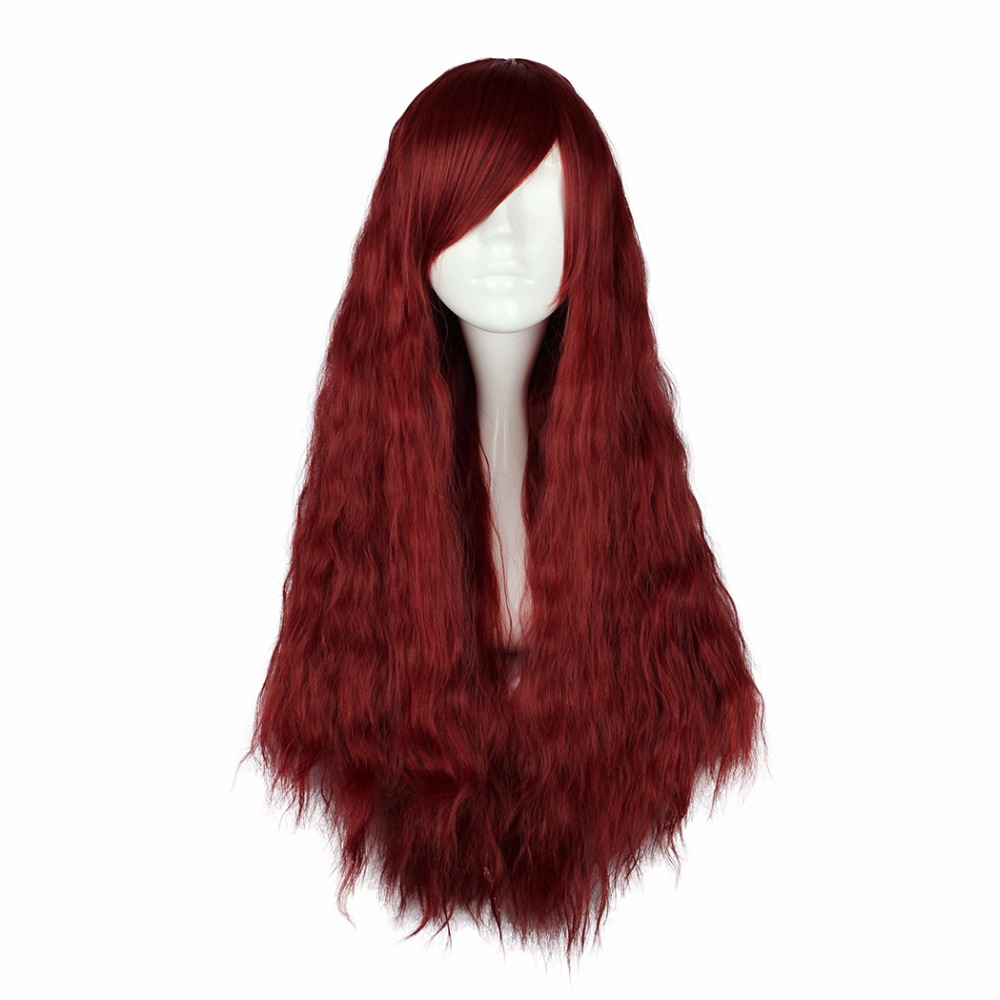 MCOSER 70cm Long Curly Multi-color Synthetic Party Wig 6 Colors Style 100% High Temperature Fiber Hair WIG-46