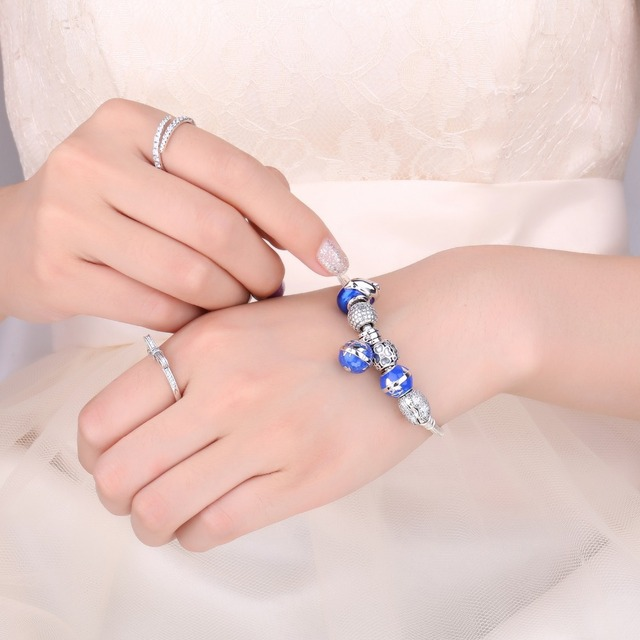 Clover Flower Pink Sapphire Charm