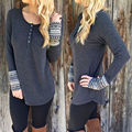 Womens Long Sleeve Oversized Ladies Knitted Long Sweater Jumper Winter Dress Top