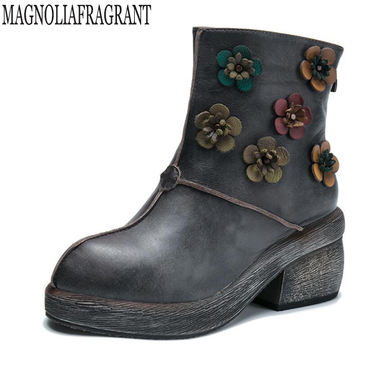 2017 Genuine leather women martin boots winter warm shoes botas feminina female motorcycle ankle fashion boots women botas mujer vtota boots women fashion autumn martin boots warm women shoes ankle boots for women winter botas mujer wedges ankle boots d23