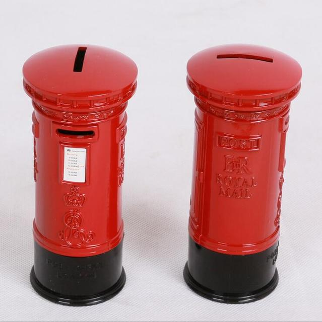 England Red Pillar-Box Piggy Bank Mailbox Models Desk Decoration Craft Supplies Storage Kids Coin & England Red Pillar Box Piggy Bank Mailbox Models Desk Decoration ... Aboutintivar.Com