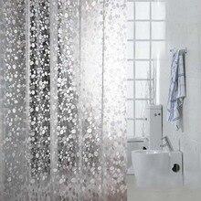 Comwarm прозрачный крупная галька мозаика узор для ванной Шторы 3D для тиснения, из ПВХ простой ручной работы душа Шторы, украшенное мозаикой из драгоценных камней, 12 крючков
