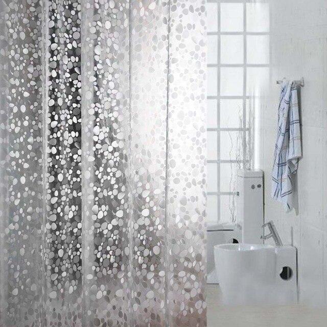מתוחכם Comwarm שקוף מרוצף דפוס פסיפס וילון אמבטיה וילון מקלחת 3D PVC XA-59