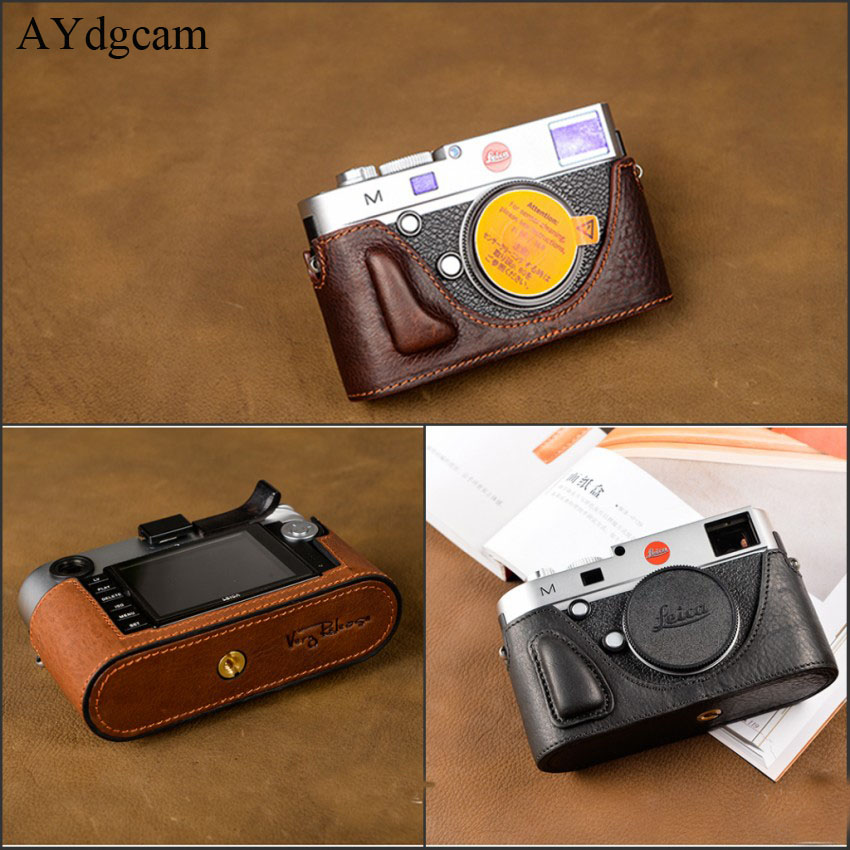 [VR] Handmade Genuine Leather Camera case Half Body For Leica M240 MP240 MM246 MD262 Bag