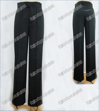 Black Satin Ribbon On Side Men's Latin Pants Mens Pants Latin Dance Pants Latin Ballroom,Salsa,Tango Latin Dance Pants