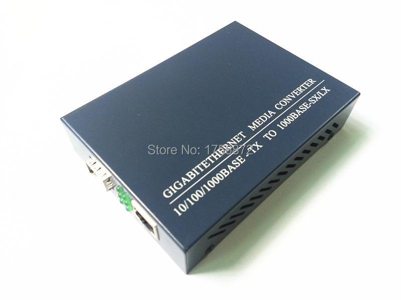Convertor de fibre SFP 10/100 / 1000M, PSU extern