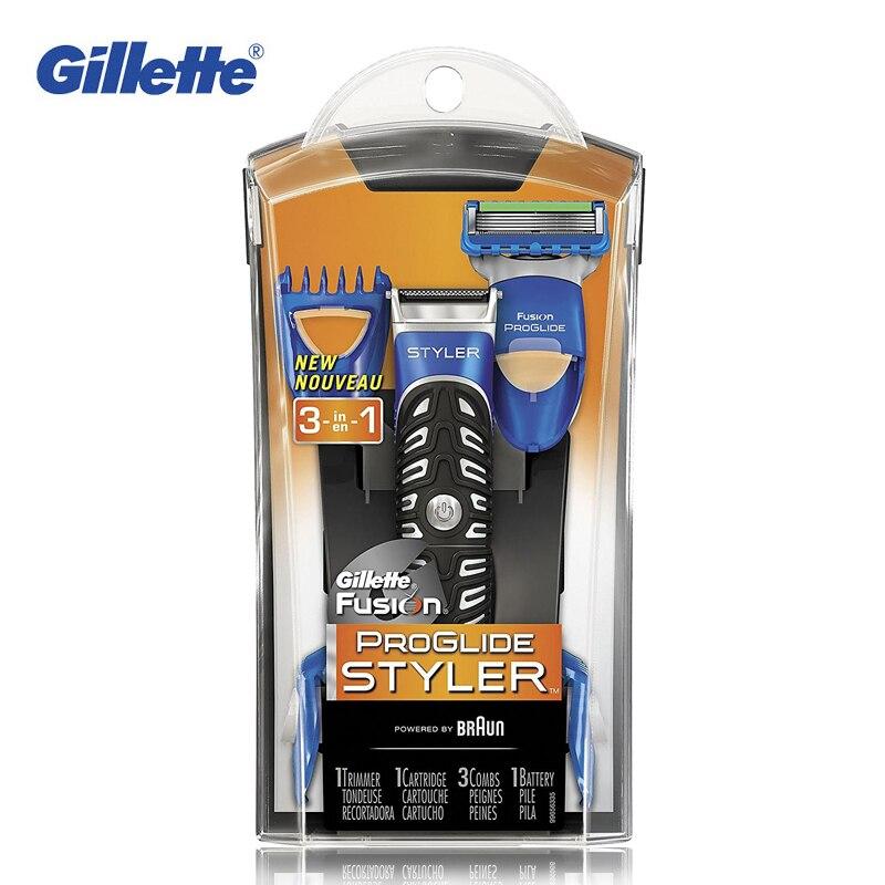 Gillette Fusion ProGlide Styler 3 in 1 Men's Razor Body Groomer and Beard Trimmer Men Razors Blades цена