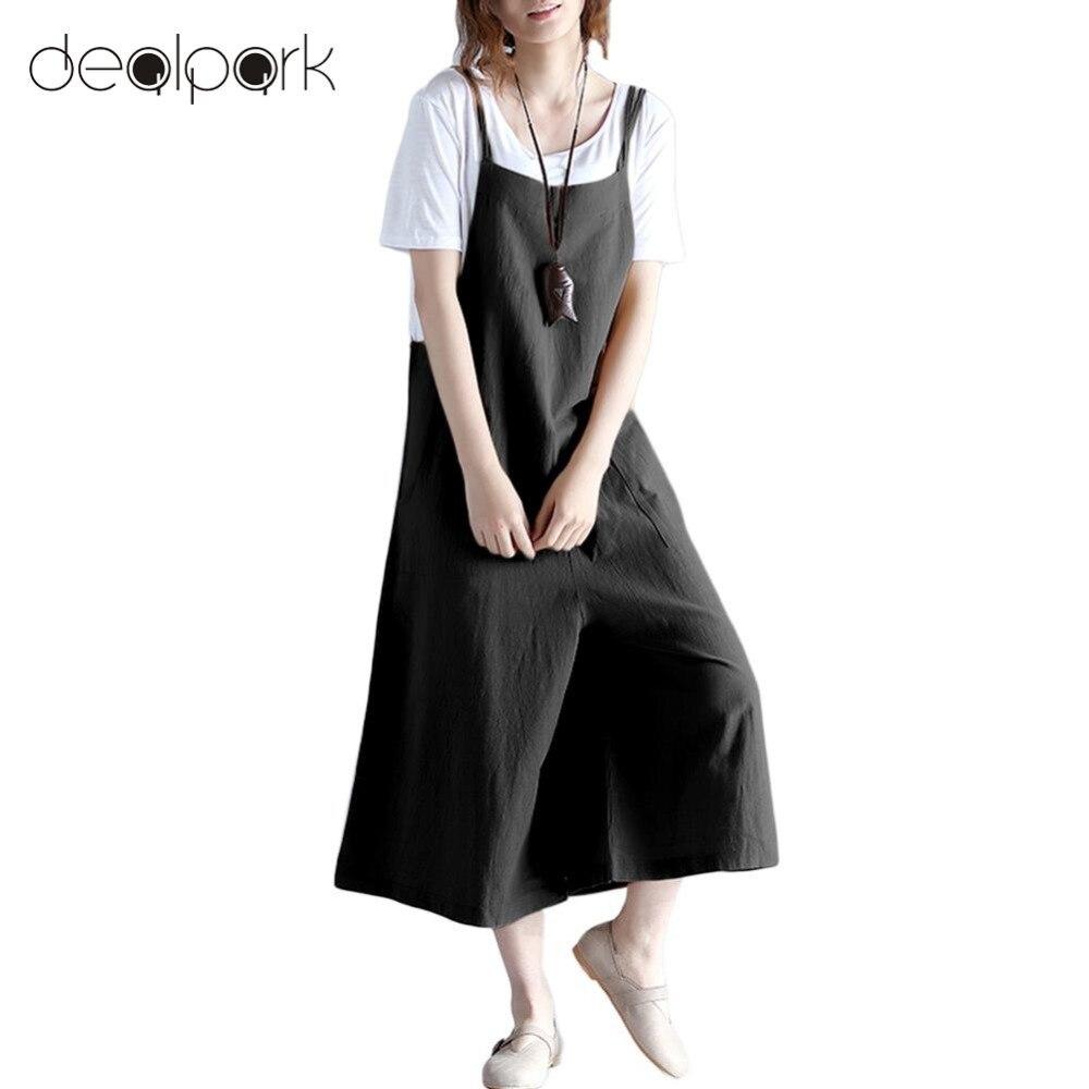 3XL 4XL 5XL Plus Size   Jumpsuit   Women Playsuit Loose Wide Leg Pants Trousers Casual Solid Pocket Overalls female Rompers Oversize