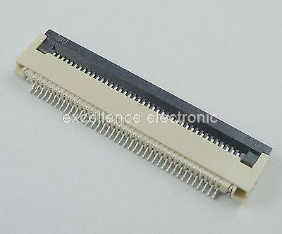50 Pcs FPC FFC 0.5mm Pitch 40 Pin Flip Type Ribbon Flat Connector Bottom Contact