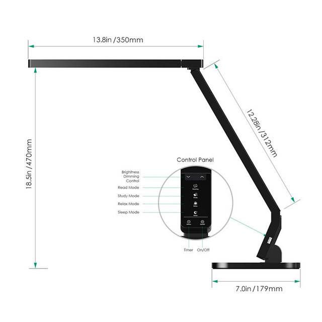 Aukey Dimmable Eye Care Led Desk Lamp 15w 5 Levels And 4 Kind Of