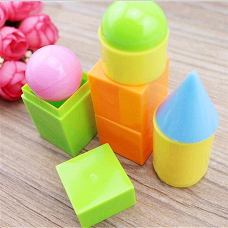 6pcs/pack Geometric shapes montessori toys for children educational toy materials juguetes math baby brinquedos educativo