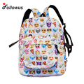 Unisex Brand New Fashion Women Men Girls Travel Backpack Emoji Shoulder School Book Bag Rucksack Cute Cartoon Bolos