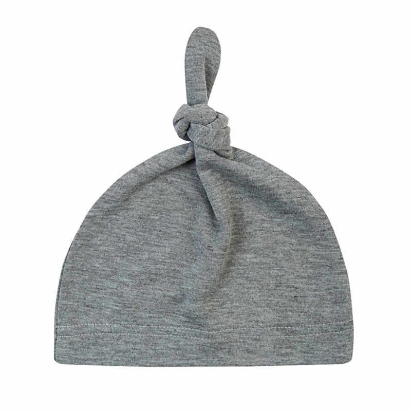 Детские хлопковые шапки-бини новорожденных обувь для мальчиков девочек Turbe узел шапка зимние теплые Bebes вязаные шапки Детские шапки аксессуары D0916