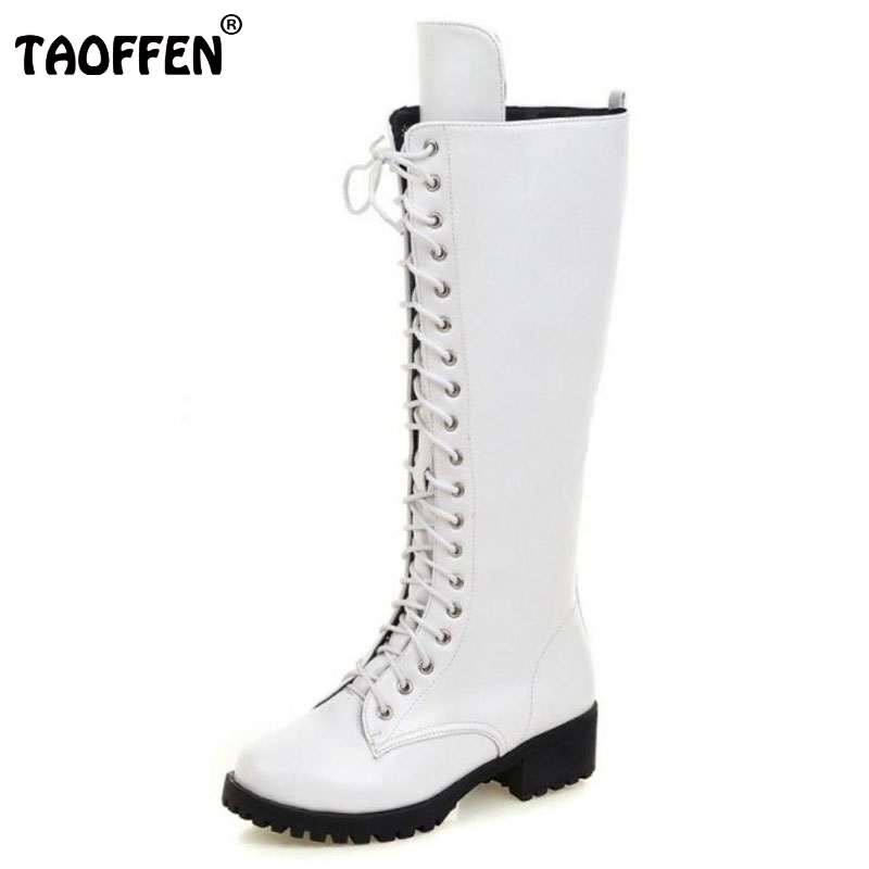 Brand New Designer Womens Square Low Heel Riding Motorcycle Heel Knee High Boots Punk Gothic Platform Lace Up Shoes Size 34-43 scoyco motorcycle riding knee protector extreme sports knee pads bycle cycling bike racing tactal skate protective ear