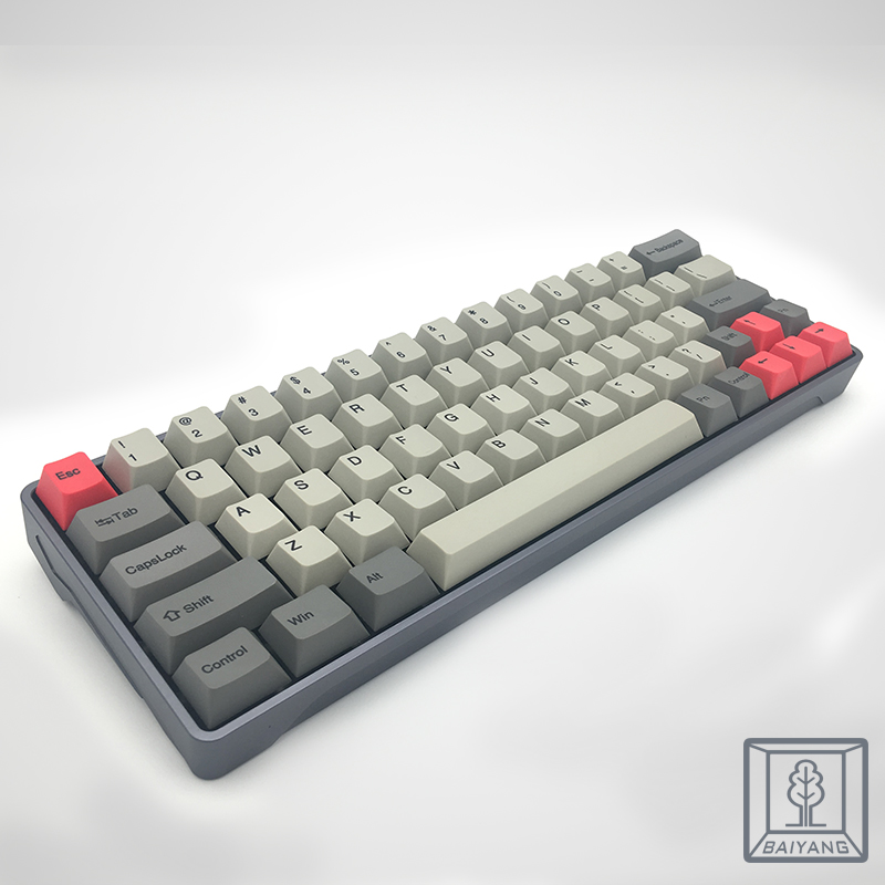Keycaps xd60 64 2x Left shift PBT Retro Color 64 Keys Cherry Porfile for GH60 Mechanical