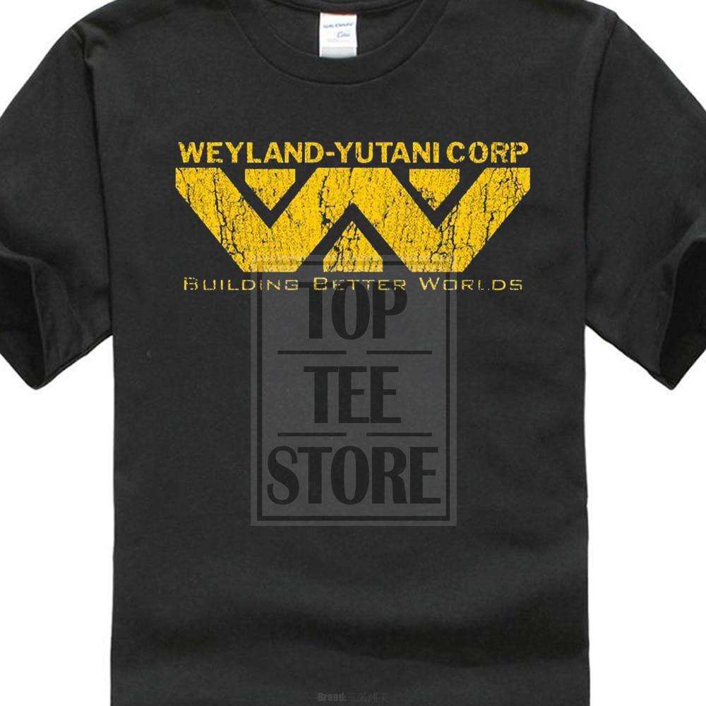 2017 Summer Creative Alien Weyland Yutani Corp T Shirt Building Better Worlds Warrior Corp Printed Short Sleeve Tees