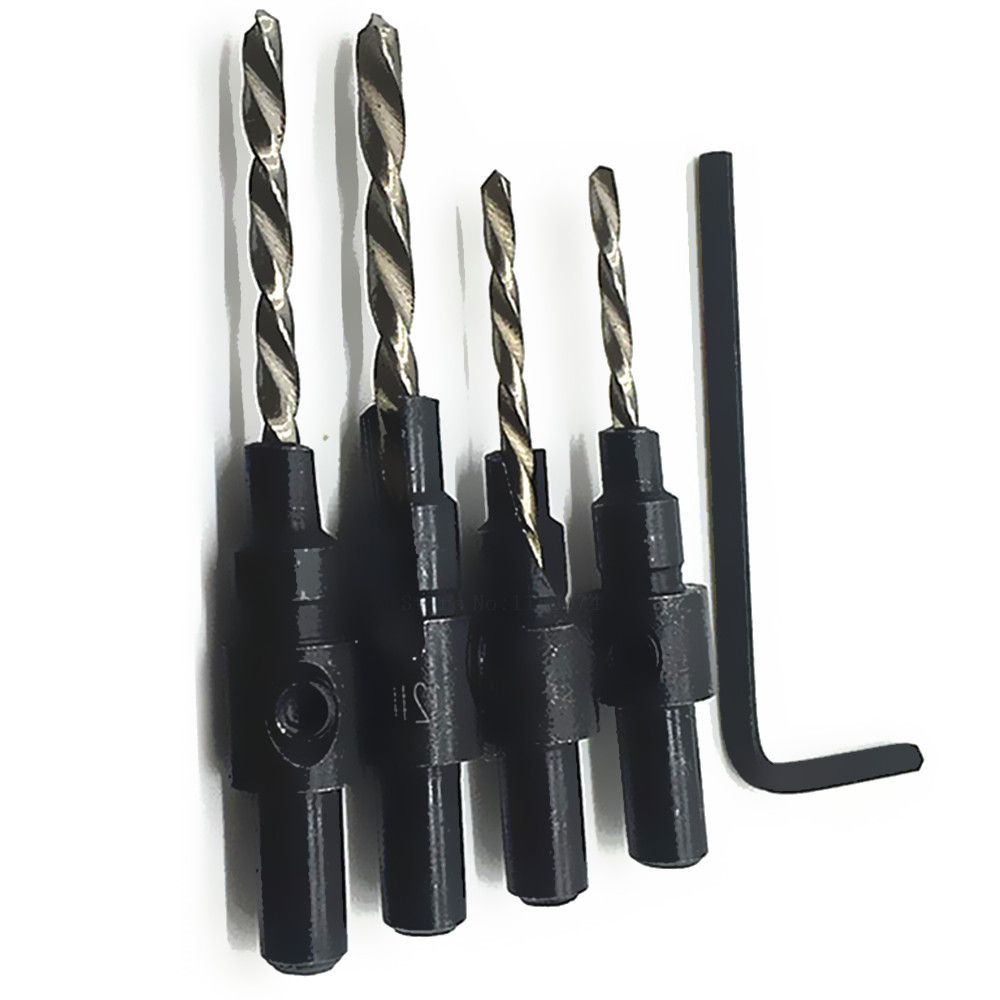 countersink bit for wood. 4pcs hss countersink drill bits counter sink wood bit screw countersunk head drilling hole reamer taper-in from home for 2
